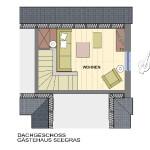 Dachgeschoss Gästehaus Seegras