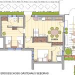 Erdgeschoss Gästehaus Seegras